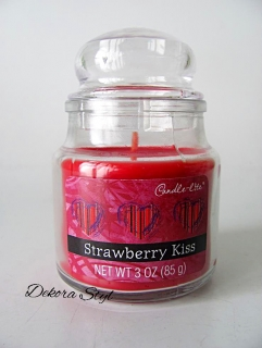 Svíčka ve skle 85g Strawberry Kiss