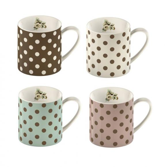 MG3697 Porcelánové hrnky Spot Mugs Cottage Flower (set)